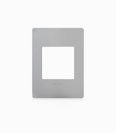 DALI scene panel fascia stainless steel