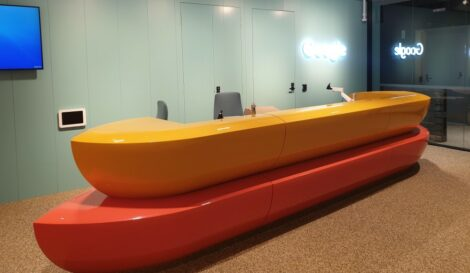 Google Reception 470x273 - Google Office - Lighting Automation Technology